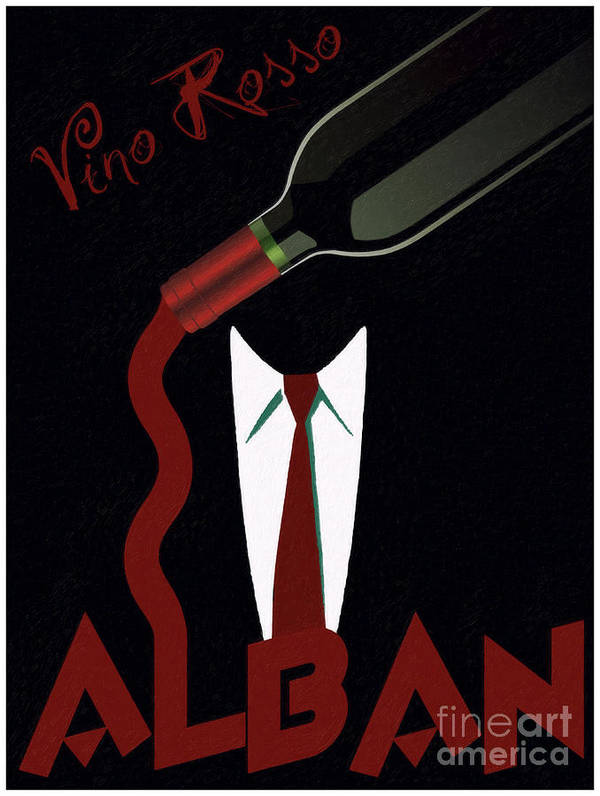 Wine Poster featuring the painting Vino Rosso by Cinema Photography