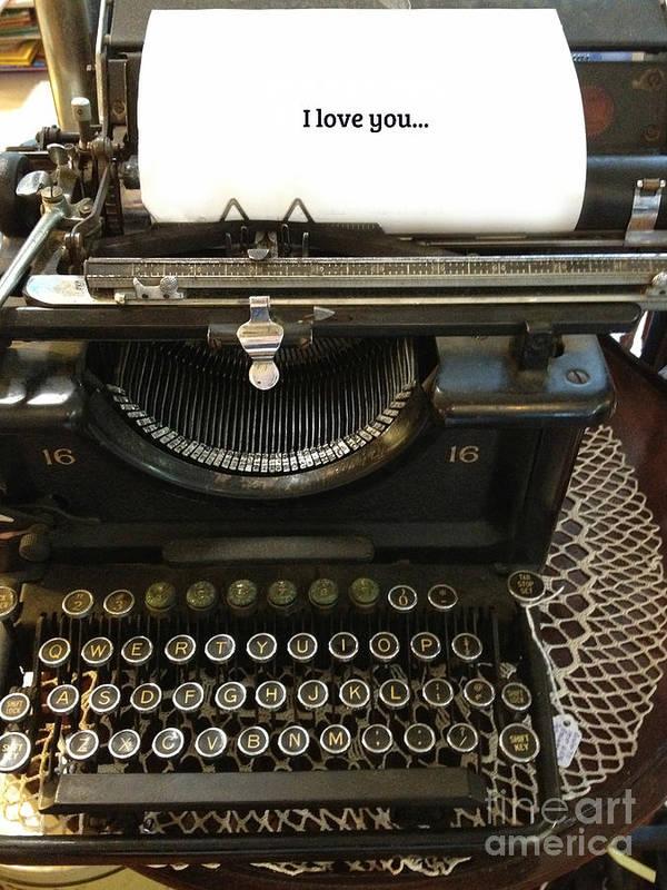 Vintage Antique Typewriter - Inspirational Vintage Typewriter Poster