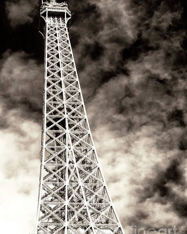 Vintage Eiffel Tower Poster featuring the photograph Vintage Eiffel Tower by John Rizzuto