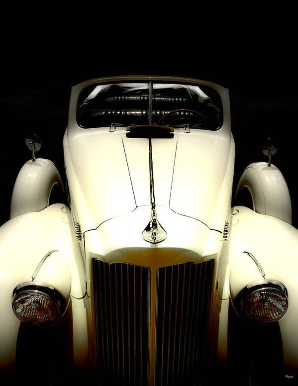 Cars Poster featuring the photograph Vintage Packard Convertible by Steven Digman