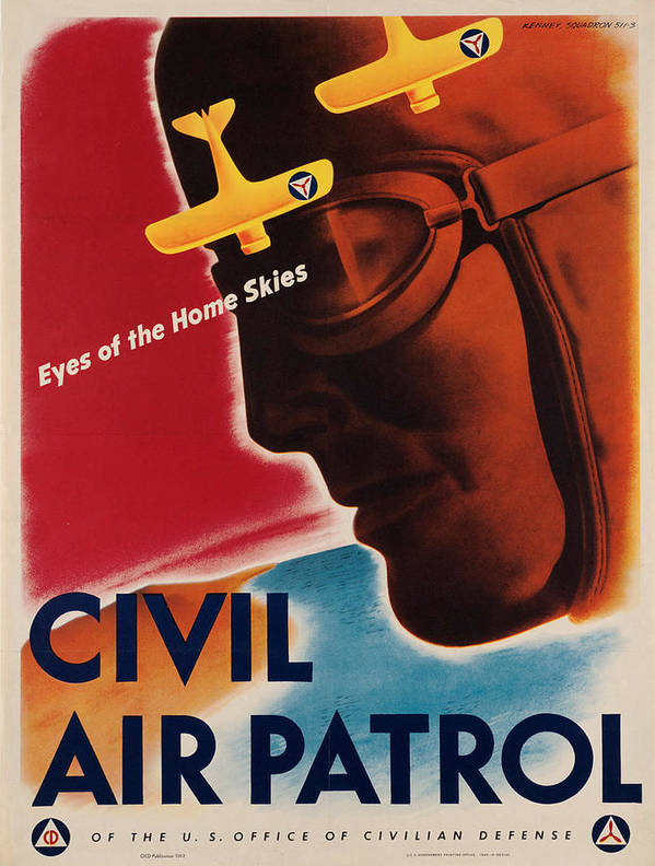 Vintage poster - Civil Air Patrol by Vintage Images