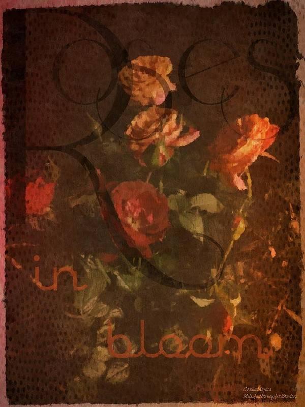 Vintage Poster featuring the photograph Vintage Roses by ConnieMojica MilkandHoneyArtStudios