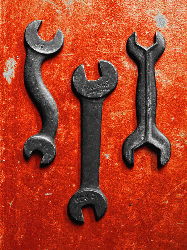 Box Wrench Poster featuring the photograph Vintage Tools by Tom Druin