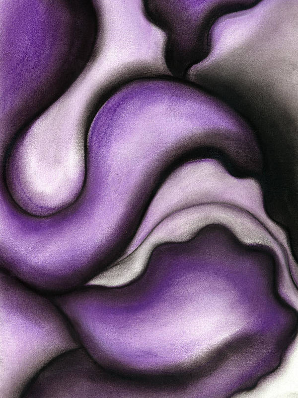 Bontanical Poster featuring the pastel Violet 1 by Bonnie Kelso