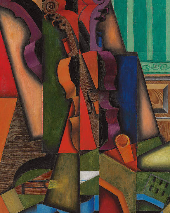 Abstract Art Poster featuring the painting Violin And Guitar by Juan Gris