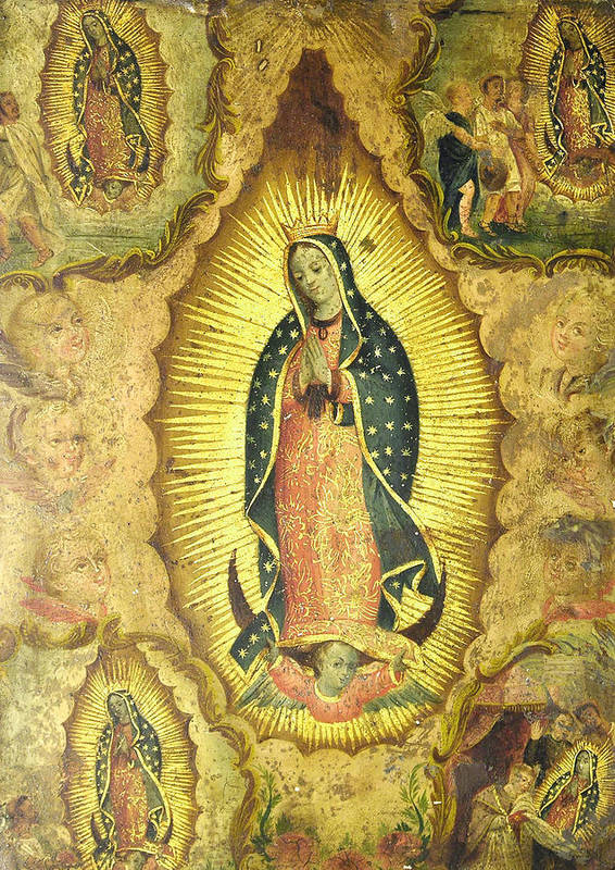 Religion Poster featuring the painting Virgen De Guadalupe by Unknown