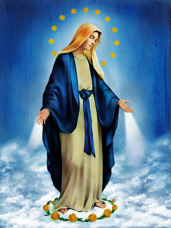 Virgin Mary Poster featuring the photograph Virgen Milagrosa by Bibi Romer