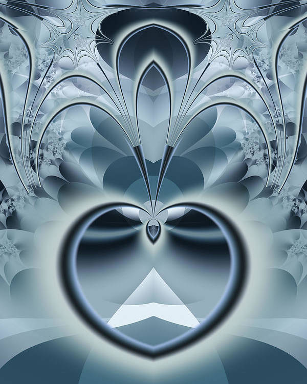 Fractal Poster featuring the digital art Vision by Frederic Durville
