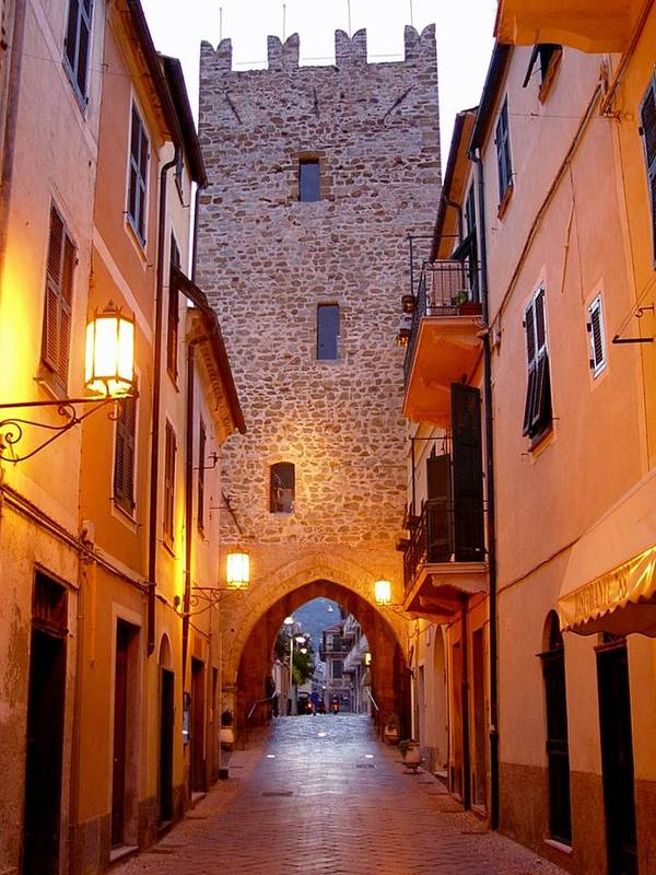 Cobblestone Walk Poster featuring the photograph Visions Of Italy Archway by Nancy Bradley
