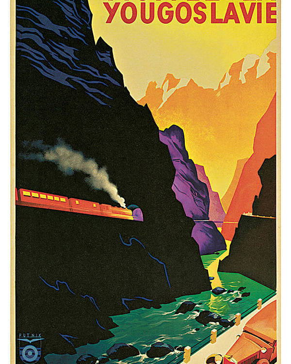 Janez Trpin Poster featuring the painting Visitez la Yougoslavie by Janez Trpin