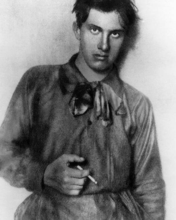 1910s Portrait Poster featuring the photograph Vladimir Mayakovsky 1893-1930, Russian by Everett