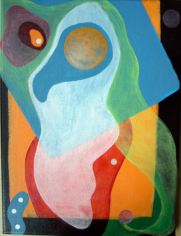 Abstract Poster featuring the painting Voile by Muriel Dolemieux