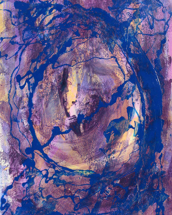 Abstract Poster featuring the painting Vortex by Mordecai Colodner