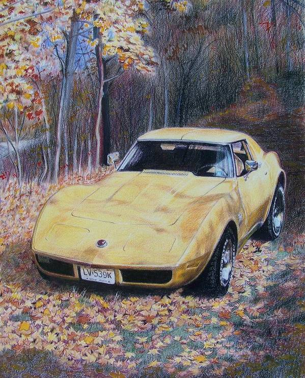 Car Poster featuring the mixed media Vrooom by Constance Drescher