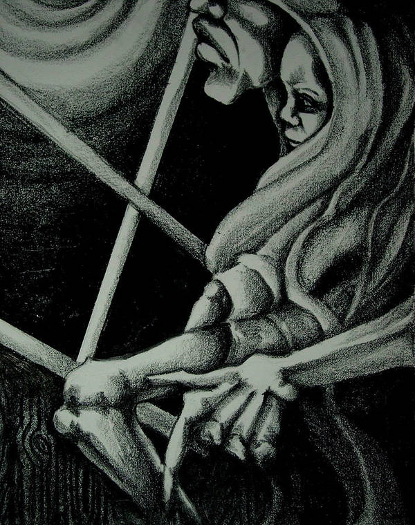 Mother Poster featuring the drawing Waiting by Dannielle Murphy