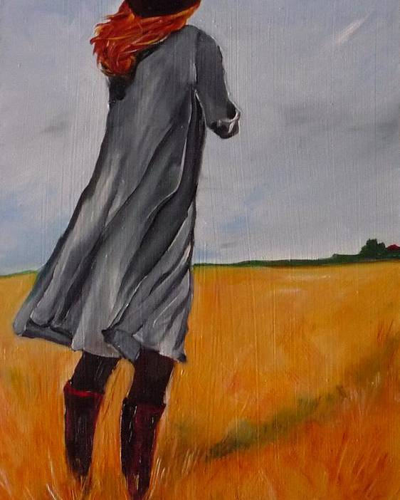 Figurative Poster featuring the painting Waiting For The Storm by Irit Bourla