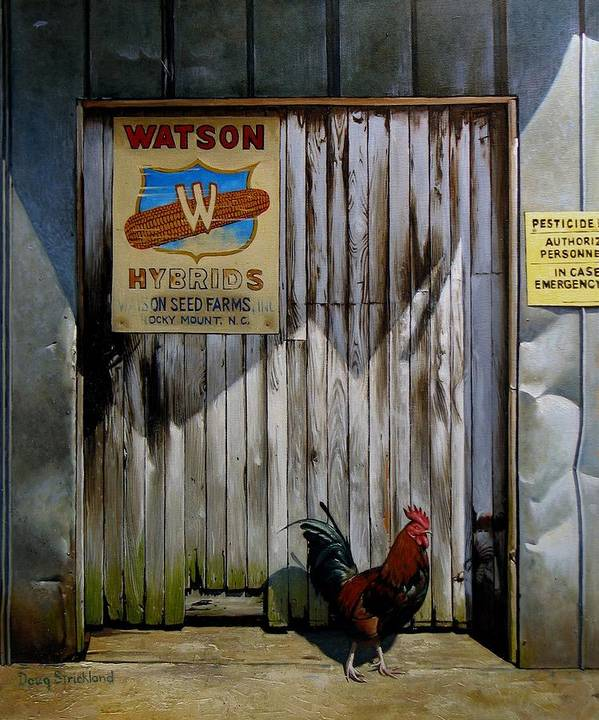 Doug Strickland Poster featuring the painting Waiting For Watson 2 by Doug Strickland