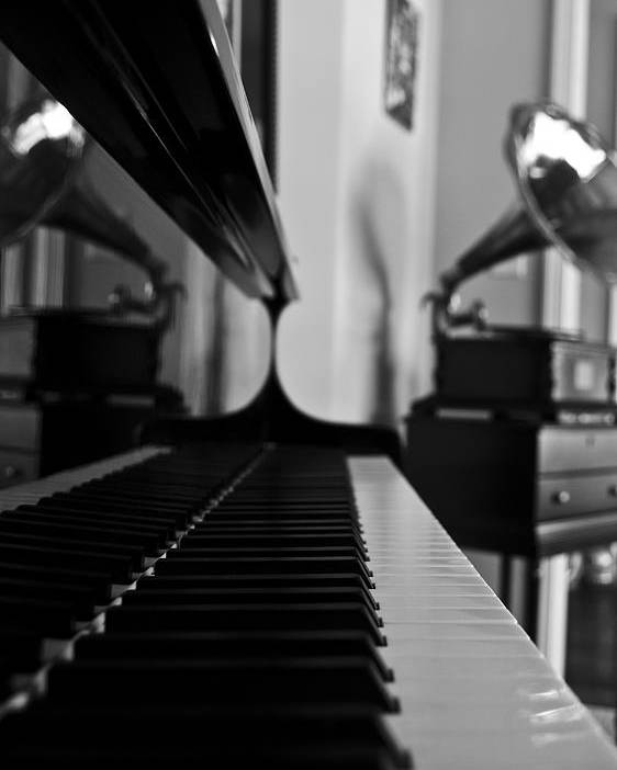 Piano Poster featuring the photograph Waiting by Jonathan Ellis Keys