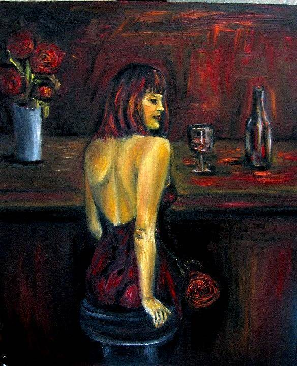 Woman Poster featuring the painting Waiting... Oil Painting  by Natalja Picugina