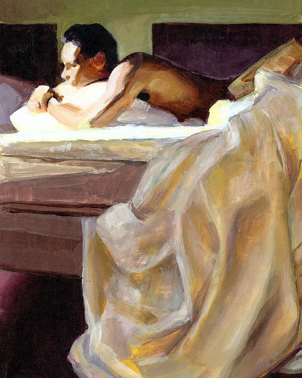 Waking Poster featuring the painting Waking Up by Douglas Simonson