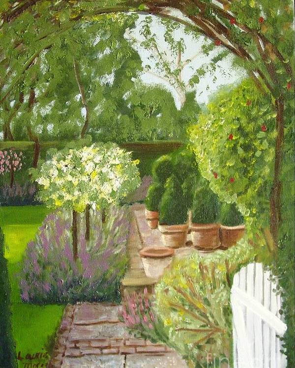 Garden Poster featuring the painting Walk With Me by Laurie Morgan
