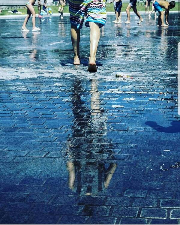 Man Poster featuring the photograph Walking On The Water by Nerea Berdonces Albareda