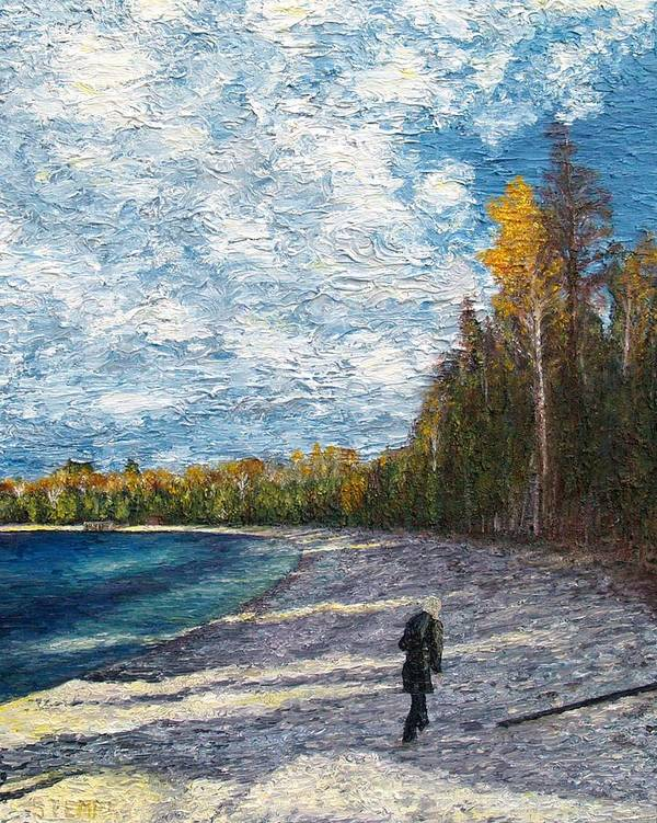 Washington Island Poster featuring the painting Walking On Uniqueness by Jacob Stempky