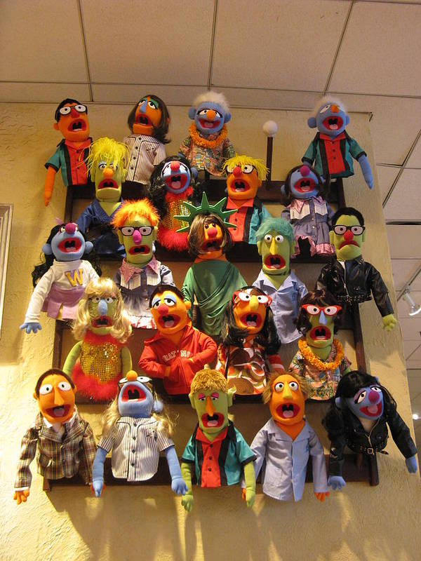 Fao Schwartz Poster featuring the photograph Wall Of Muppets by Choi Ling Blakey