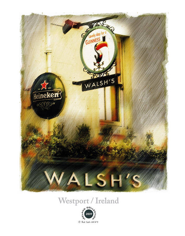 Ireland Poster featuring the painting Walsh's by Bob Salo