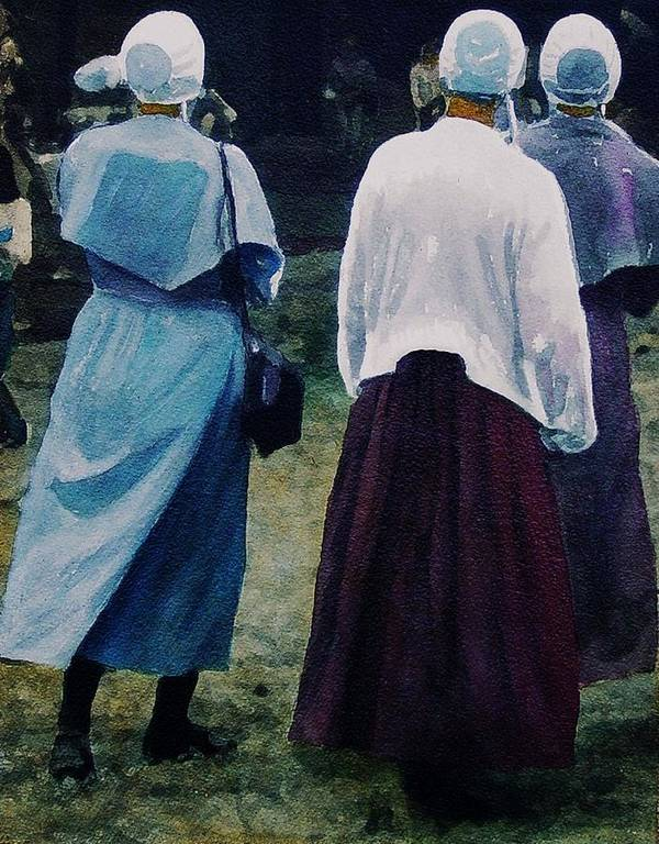 Oil Poster featuring the painting War Eagle Ladies by Tom Herrin
