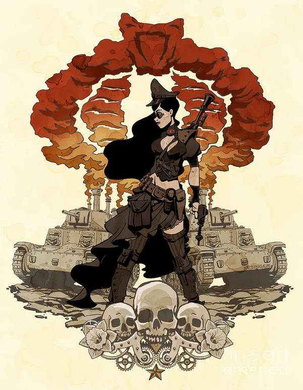 Comic Poster featuring the photograph War Maiden by Brian Kesinger