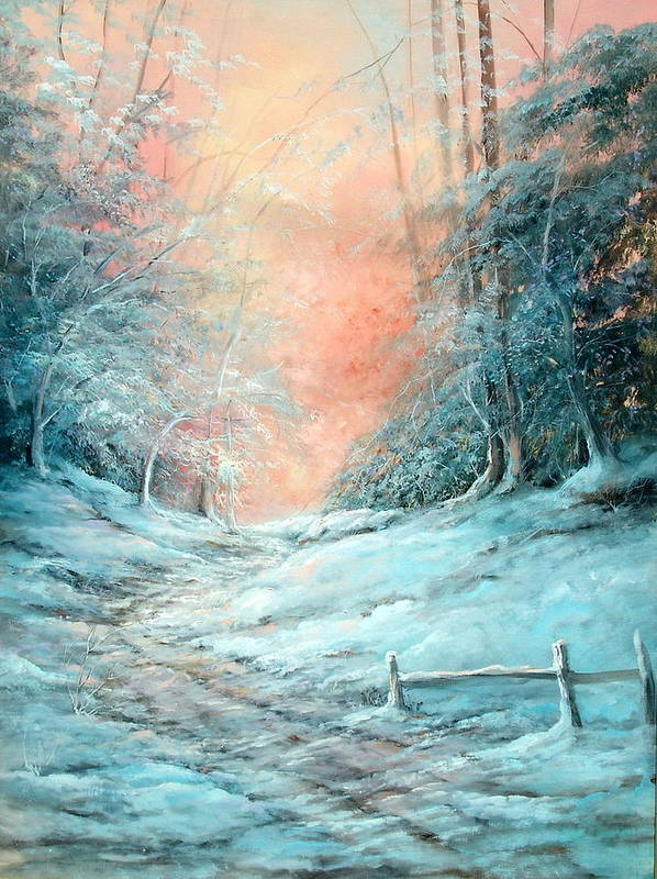 Winter Poster featuring the painting Warm Winter Fantasy by Sally Seago
