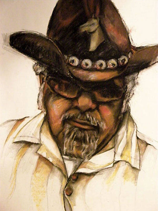 Portrait Poster featuring the painting Warner Williams by Jackie Merritt