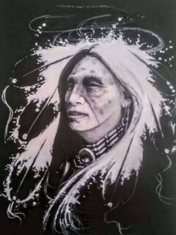 Native American Indianart Poster featuring the painting Warrior 2 by DC Houle