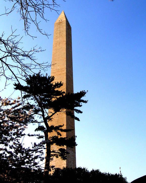 Washington Poster featuring the photograph Washington Monument At Dusk by Douglas Barnett