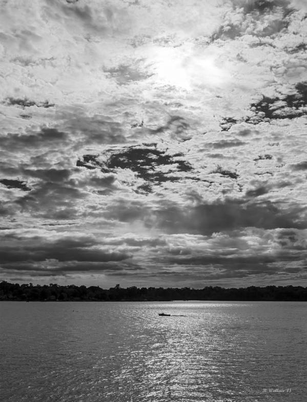2d Poster featuring the photograph Water And Sky - Bw by Brian Wallace