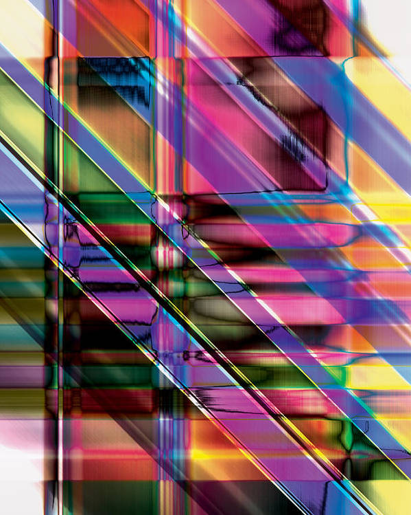 Abstract Poster featuring the digital art Water Color Window by Gae Helton