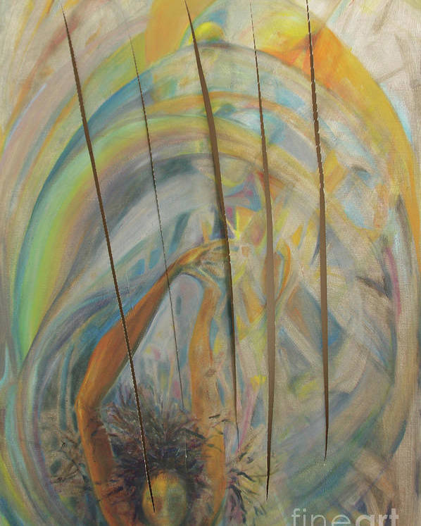 Oil Painting Poster featuring the painting Water by Daun Soden-Greene