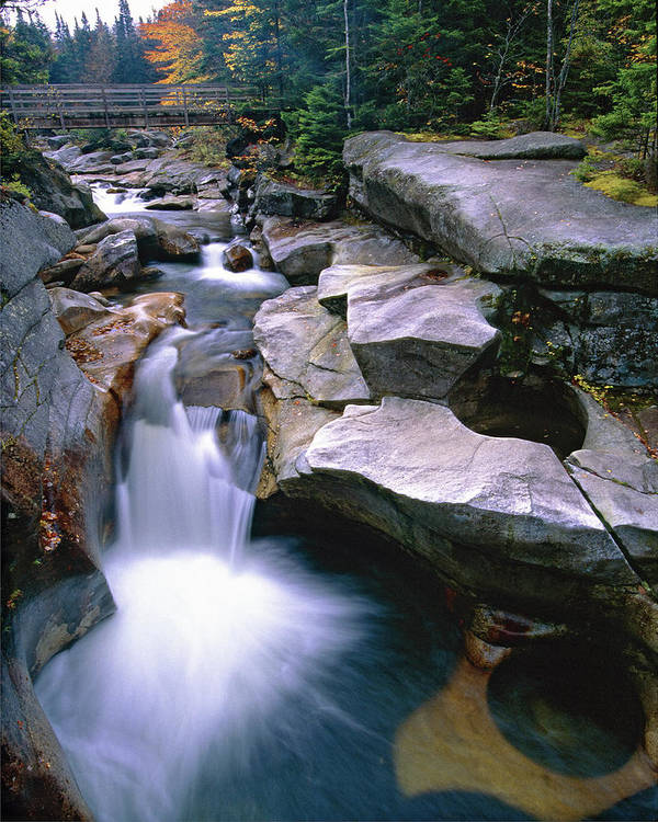 Ammonoosuc River Poster featuring the photograph Waterfall On The Ammonoosuc River by George Oze