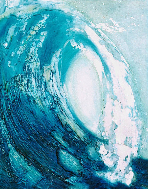 Wave Poster featuring the painting wave VIII by Martine Letoile