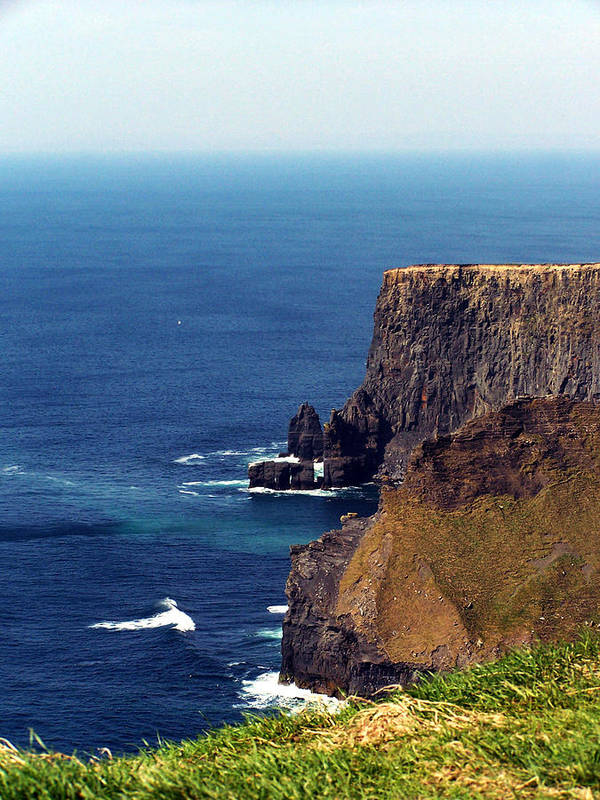 Irish Poster featuring the photograph Waves Crashing At Cliffs Of Moher Ireland by Teresa Mucha