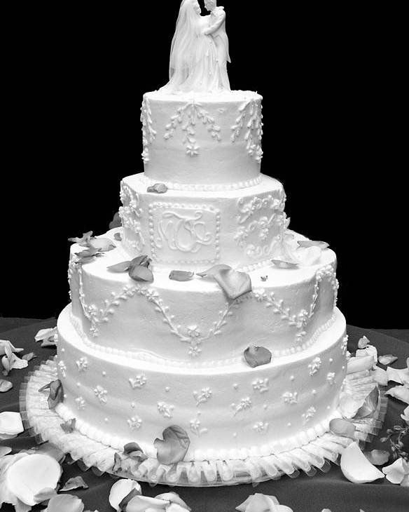 Wedding Poster featuring the photograph Wedding Cake by Marilyn Hunt