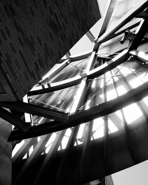 Weisman Architecture Structure Light Shadow Contrast Minnesota Minneapolis Gehry Poster featuring the photograph Weisman's Skeleton by Pete Mikelson