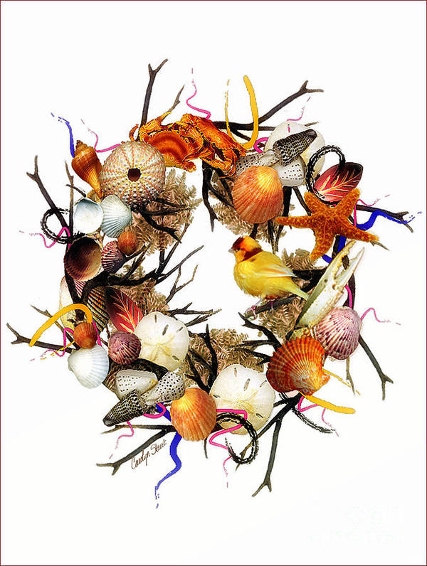 Shells Poster featuring the painting Welcome To My Nest by Carolyn Staut