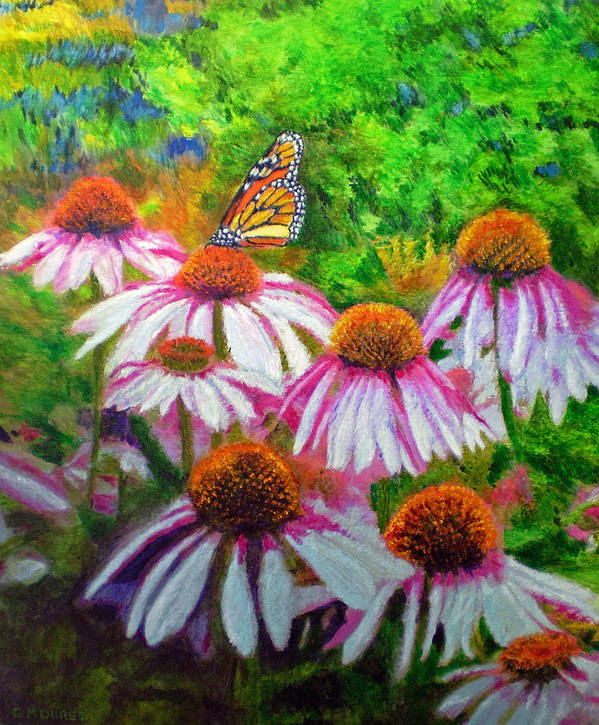 Butterfly Poster featuring the painting Welcomed Visitor by Michael Durst