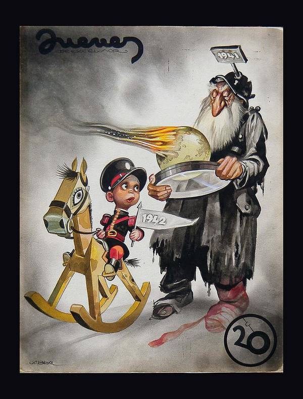 1941 Poster featuring the painting Welcoming 1942 by Ernesto Garcia Cabral