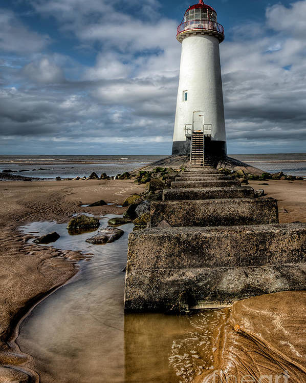 Beach Poster featuring the photograph Welsh Lighthouse by Adrian Evans