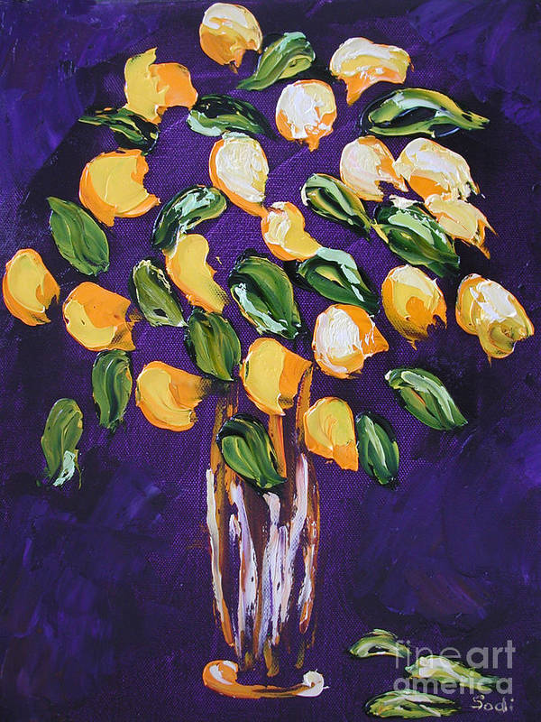 Floral Poster featuring the painting Wendy by Sodi Griffin