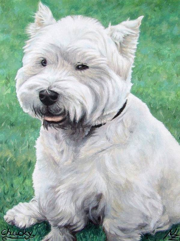 Dog Poster featuring the painting West Highland Terrier by Nicole Zeug