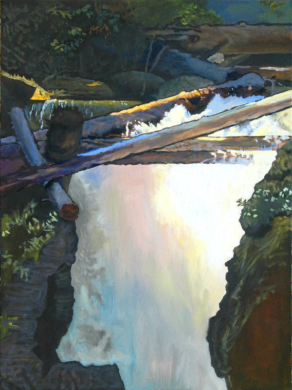 Fall Poster featuring the painting West Yaak Falls by Robert Bissett